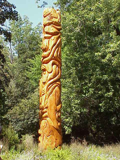 The heal all life healing pole sculptures